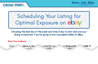 Schedule Your Listing for Optimal eBay Exposure